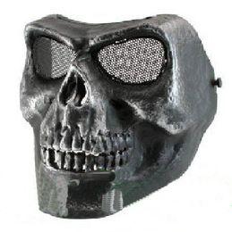Wholesale face mask chocolate - Hotsale CACIQUE Skull Full Face Mask Silverish Black
