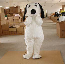 Wholesale Plush Dog Mascot Costumes - plush bodysuit snoopy dog mascot costumes for birthday party adult size custom made free shipping white