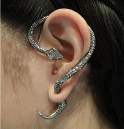 Wholesale Wholesale Earring Stud Backings - 2012 Vintage Punk Small Snake Winding Stud Earrings Wrap retro ear cuff Jewelry .12pcs