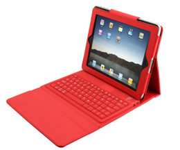 Discount ipad2 tablet - Christmas party favours favor gift 9.7inch Wireless Bluetooth Leather Case Cover with Keyboard for iPad2 iPad3 Tablet Cl