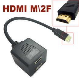 Wholesale Free Cable Tv - Free Shipping New HDMI Cable Adapter 1 Male to 2 Female For HD TV DVD