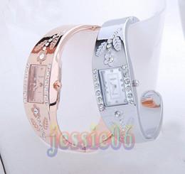 Wholesale Super Jewelry - Bracelet watches women lady CZ diamond Jewelry Bangle bracelet Wrist watch Super Christmas gift