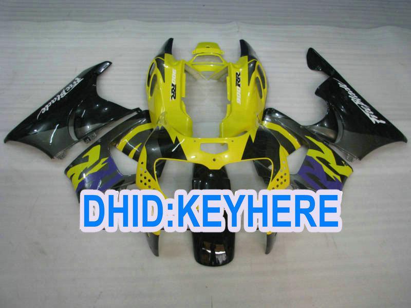 Carenados completos H80 para Honda 1996 1997 CBR900RR 893 CBR 900RR 96 97 amarillo negro Racing careing