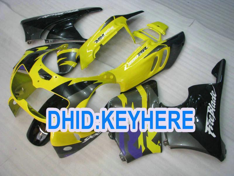H80 carénage fullset pour Honda 1996 1997 CBR900RR 893 CBR 900RR 96 97 jaune noir carénage Racing