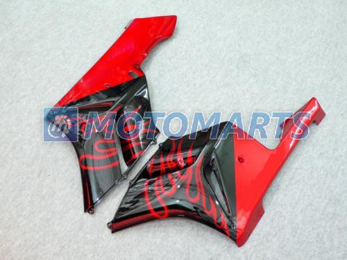 Kit de carénage injection moule flamme rouge / balck POUR HONDA CBR1000RR 2004 2005 CBR1000 RR 04 05 carénages CBR 1000 pièces