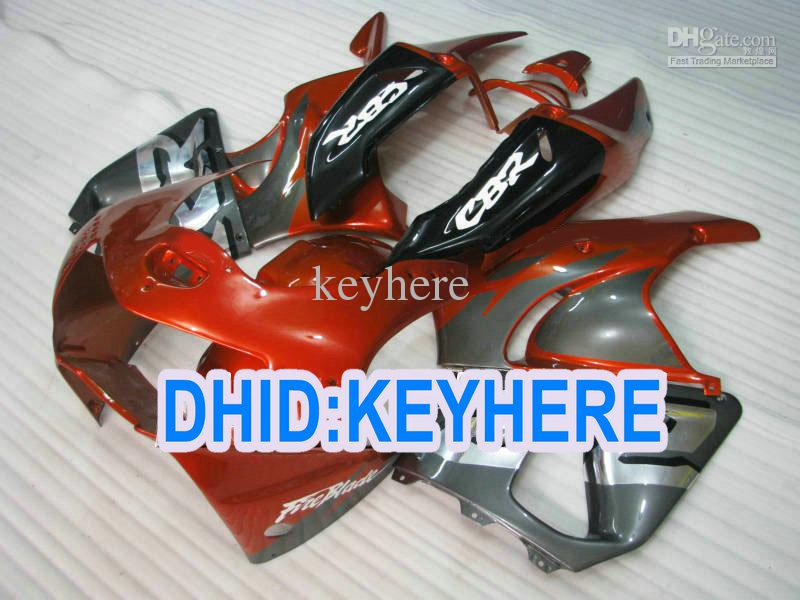 Carenagens de laranja cinza H90 fullset para Honda CBR900RR 919 1998 1999 CBR 900RR 98 99 Kit de carenagem de corrida