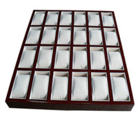 Wholesale Watches Box 24 - Luxury New 24 Grid Watches Display Storage Box Case Jewelry watches collection box Waterproof