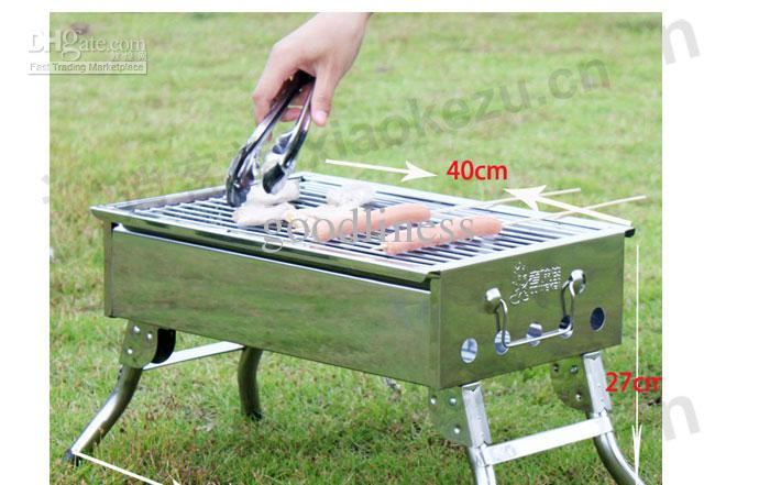 Marvelous 2018 Bbq Shelf Portable Charcoal Grill Home Stainless Steel Grill Outdoor  Folding Barbecue Bbq Grill From Goodliness, $69.95 | Dhgate.Com