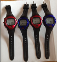 Wholesale Heart Rate Watch Calorie Counter - 20pcs Calorie Counter Pulse Heart Rate watch Monitor Sport Watch Watches blue and red color