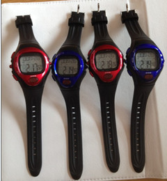 Wholesale Heart Rate Pulse Calorie Watch - 20pcs Calorie Counter Pulse Heart Rate watch Monitor Sport Watch Watches blue and red color