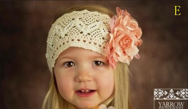 Großhandel 20st Kinder Haarband Baby Häkeln Headwrap Mädchen Blume ...