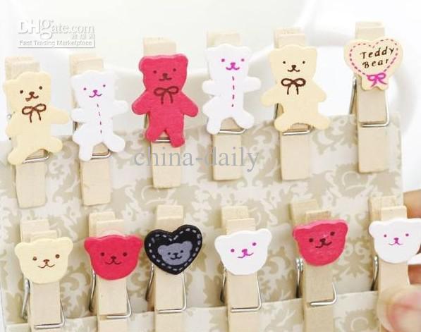 240 조각 한국의 시골 감정적 인 만화 곰 나무 메모 클립 웨딩 편지지 베이비 클립