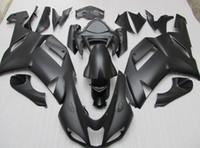 carenado abs zx 636 al por mayor-Cuerpo PARA KAWASAKI Ninja ZX6R ZX-6R 636 07-08 6R 07 08 2007 2008 negro mate Carenado completo