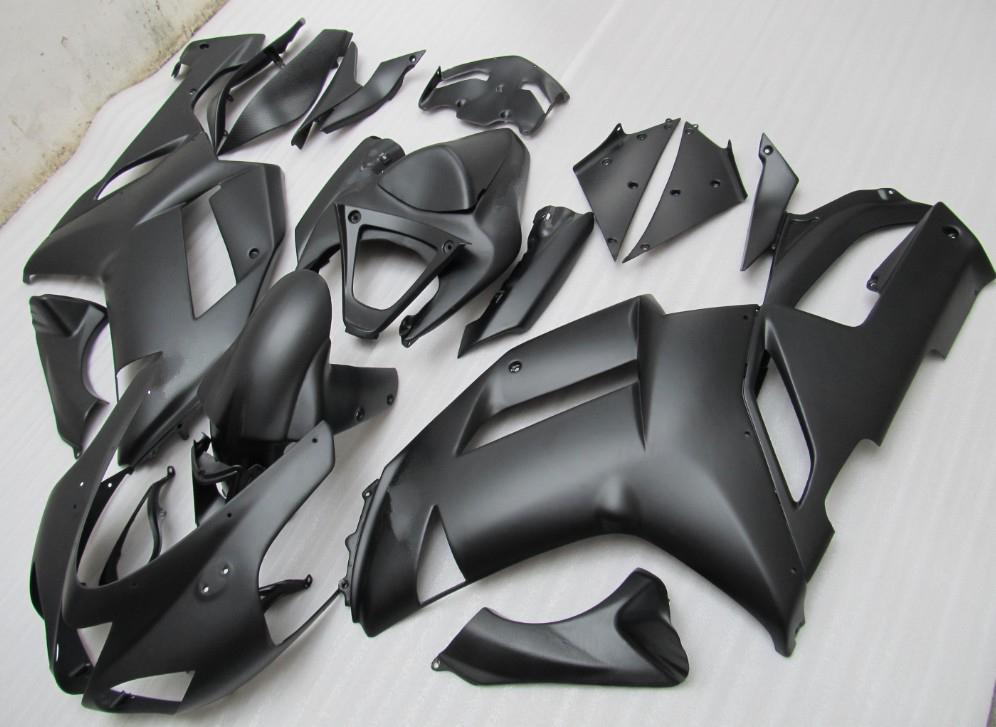 Karosserie für KAWASAKI Ninja ZX6R ZX-6R 636 07-08 6R 07 08 2007 2008 mattschwarz Vollverkleidung