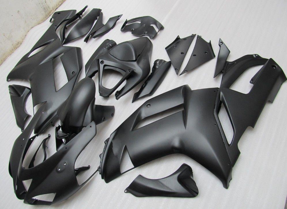KAWASAKI Ninja ZX6R ZX-6R Için vücut 636 07-08 6R 07 08 2007 2008 mat Siyah Tam Kaporta