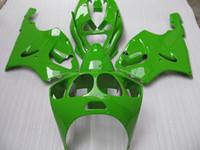 zx7r abs bayrakları toptan satış-K7603 KAWASAKI Ninja için Yeşil Kaplama Kiti ZX7R ZX-7R ZX 7R ZZR 750 1996 - 2003 96 97 98 99 00 01 02