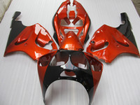 Wholesale Kawasaki Zx7r Fairings Orange - Burnt Orange black Fairing kit Kawasaki Ninja ZX7R ZX-7R ZX 7R ZZR 750 1996 - 2003 96 97 98 99 00 01 02