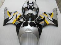 99 silber großhandel-gelb silber Verkleidungskit für Kawasaki ZX7R ZX-7R Ninja ZZR 750 1996 - 2003 96 97 98 99 00 01 02