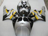 carenagem zxr venda por atacado-kit de carenagem de prata amarelo para kawasaki ZX7R ZXR-7R Ninja ZZR 750 1996 - 2003 96 97 98 99 00 01 02