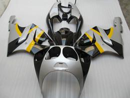Fairings For Kawasaki Zzr Canada - yellow silver Fairing kit for kawasaki ZX7R ZX-7R Ninja ZZR 750 1996 - 2003 96 97 98 99 00 01 02