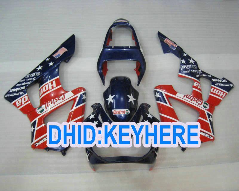 HONDA CBR900RR 9000 2001 CBR 900RR 00 01レースフェアリングのためのH100フルセットのABSボディワークフェアリング