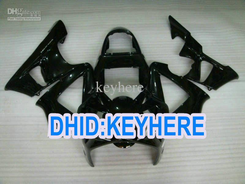 H102 passen glänzende schwarze Verkleidungen für Honda 2000 2001 CBR900RR 929 CBR 900RR 00 01 Rennsportverkleidung an