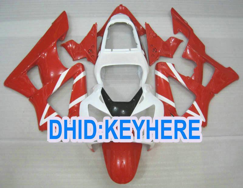 H110 Custom Red White Bodywork Fit för Honda 2000 2001 CBR900RR 929 CBR 900RR 00 01 Fairing Kit