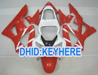 Wholesale Honda Fit Custom - H110 custom red white bodywork fit for Honda 2000 2001 CBR900RR 929 CBR 900RR 00 01 fairing kit