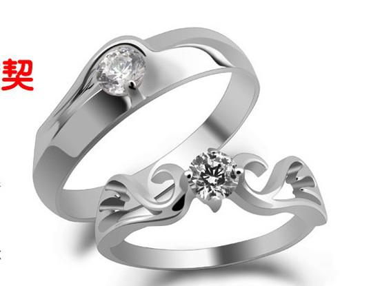 Fashion Diamond Ring Engagement Rings Bride Rings Couple Rings