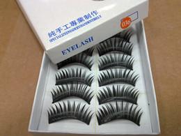 Wholesale Long Human Hair Eyelashes - Hand-made False eyelashes 100pairs  lot (10pairs=1 box) 2 models( natural and thick for choose) Free