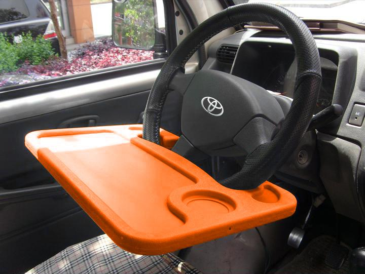 Car Multi Functional Tray Desk Table On Steering Wheel For Laptop Cup Drink Food Books Freezable Holder Fridge From Wentin