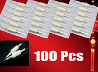 Wholesale Sterilized Grip Needle - Professional 100pcs Sterilized Tattoo Needles With 100pcs Suited Tube Grips Tattoos Supply ML014