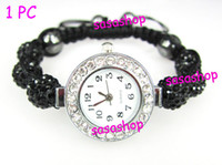 Wholesale Disco Ball Beads Stainless Steel - Bing Disco ball bracelet style Pave crystal beads Disco ball watch watches Friendship Gift 1PC