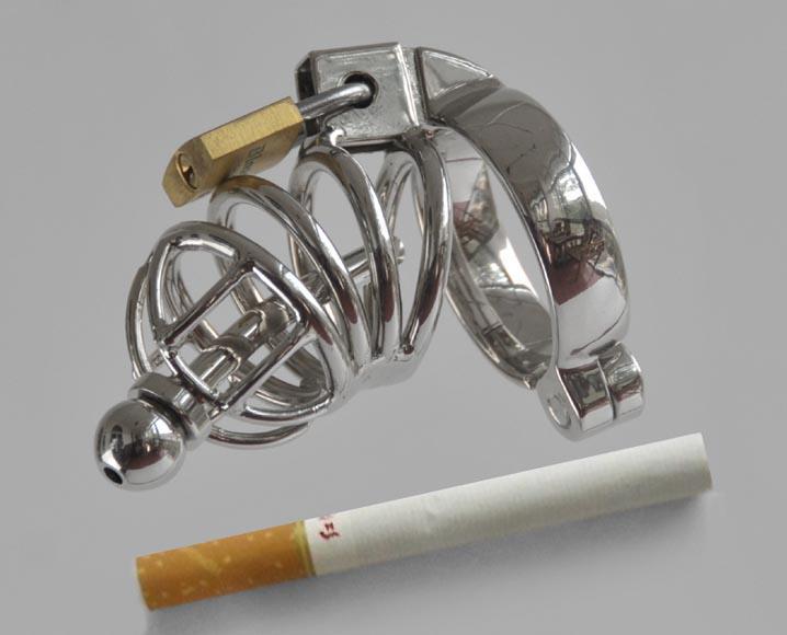 Al por mayor - Herramientas de castidad de acero inoxidable 2012NEW, dispositivo de castidad de metal uréter