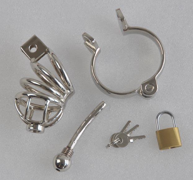 Partihandel - 2012New Rostfritt stål Kasthetsanordningar, Metall ureter Chastity Device