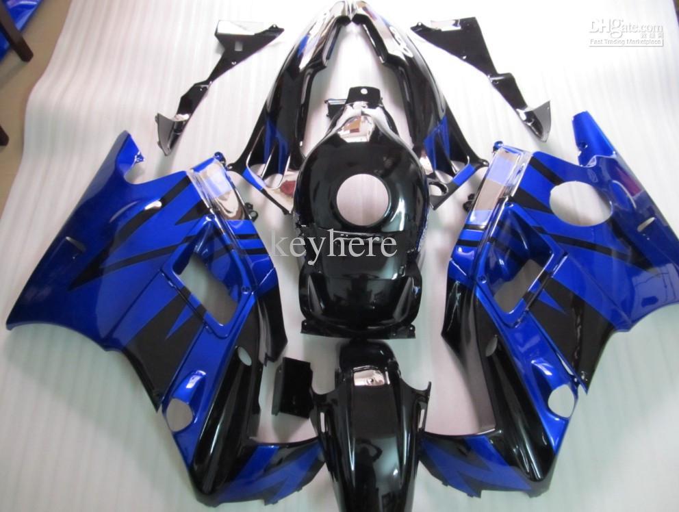 Fertigen Sie ABS Körper-Verkleidung für CBR600 F2 1991 1992 1993 1994, CBR 600 F2 9-94, blaue / schwarze Farbe besonders an