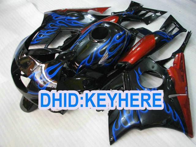 Blauwe Vlam Rode Verklei voor CBR600 F2 1991 1992 1993 1994 CBR600F2 CBRF2 91 92 93 94 Fairing Kit
