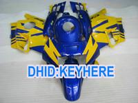 Wholesale Honda Cbrf2 - Blue & yellow full fairings for CBR600 F2 1991 1992 1993 1994 CBR600F2 CBRF2 91 92 93 94 fairing kit