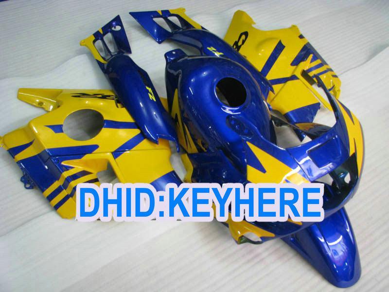 Blå Gula Full Fairings för CBR600 F2 1991 1992 1993 1994 CBR600F2 CBRF2 91 92 93 94 Fairing Kit
