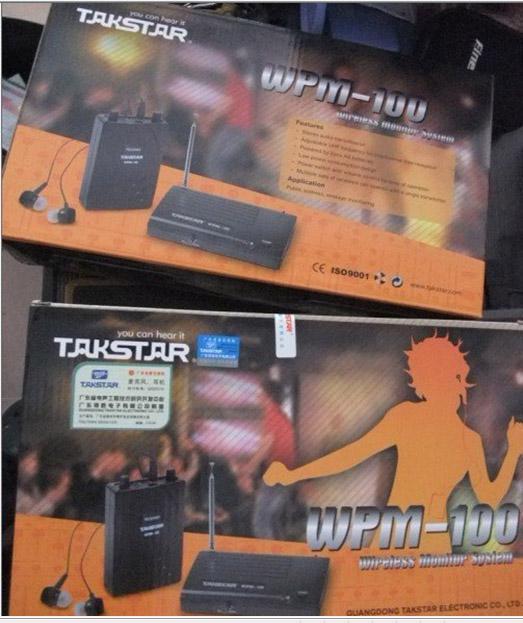 Neue TAKSTAR In Ear Professionelle Bühne Wireless Monitor System empfänger + sender + kopfhörer Frei