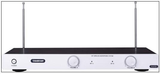 新しいTAKSTAR TS-6720 VHFワイヤレスマイクロフォンシステムプロフェッショナルVHFカラオケ工学マイクホット50%