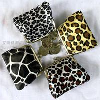 Wholesale Skull Purses Wallets Wholesale - 2016 new fashion women girl leopard money wallet burse coin purse mix color