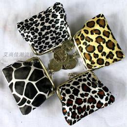 Wholesale Tartan Coin Purses Wholesale - 2016 new fashion women girl leopard money wallet burse coin purse mix color
