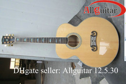 Wholesale Tiger Guitar Chinese - 43'' Hand-made advanced Chinese Acoustic electric guitar solid maple & tiger maple