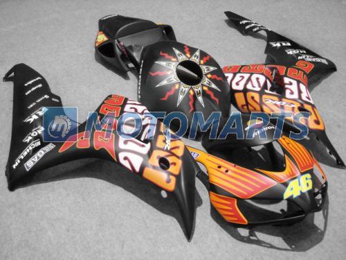 A cor matte Injetorou o jogo da carenagem moldada para Honda CBR 1000 RR 06 07 CBR1000 CBR1000RR 2006 2007