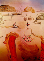 Cheap Oil painting abstract,Paranoia Surrealist Figures,Salvador dali Canvas Art Reproduction,High quality,Hand-painted