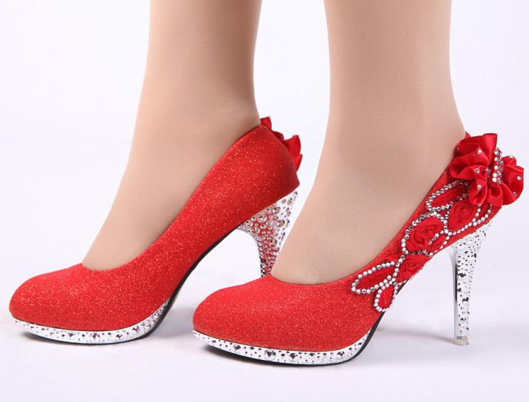 Hot Sales Women Fashion High Heeled Shoes Bride Wedding Shoes ...
