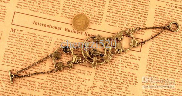 Bracelets VINTAGE Petals Insect Diamond Hollow Bracelet