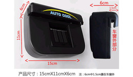 Wholesale Air Condition Auto - 2pcs lot samples-Solar Power Car Auto Cool Air Conditioning Cooler Fan With Retail box