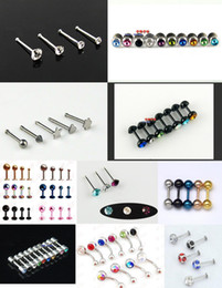 Wholesale Assorted Piercing Rings - 300pcs Assorted Eyebrow Ring Lip Spikes Tongue Rings Ear Bar Navel Piercing Body Jewelry Sets
